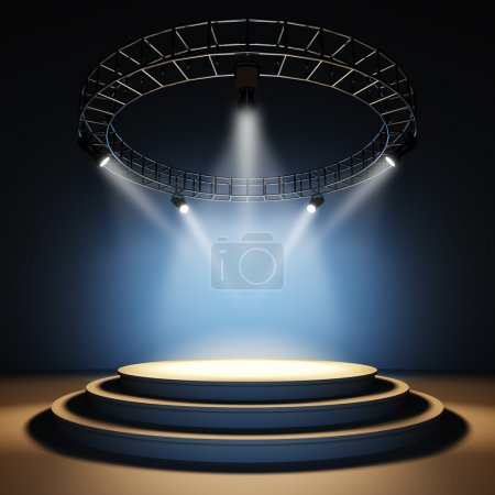 A 3d illustration of an empty stage....