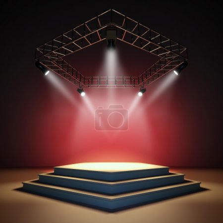 Photo for A 3d illustration of an empty stage. - Royalty Free Image