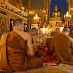 Buddhist monks praying (Thailand)...