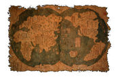Old Chinese world map