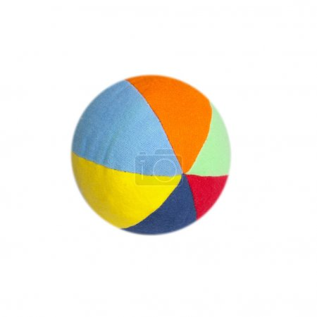 Colorful striped ball isolated on a white
