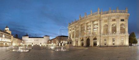 Turin, Piazza Castello panoramic view, Italy...