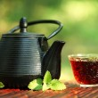 Teapot and glass...