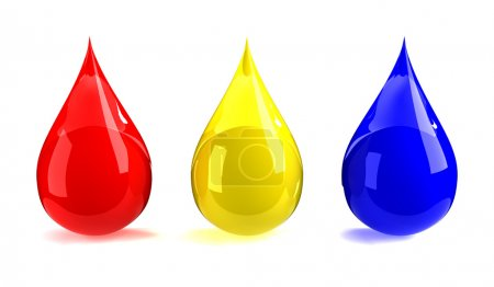 Red, yellow, & blue drops