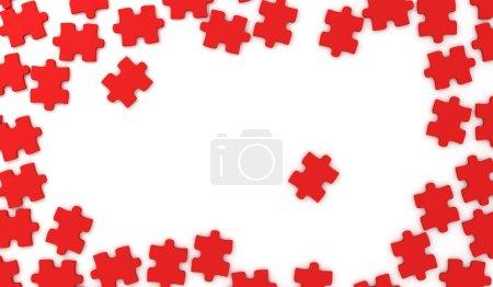Foto de Marco de piezas de Puzzle - Imagen libre de derechos