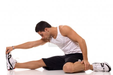Photo for Sitting Hamstring Stretch - Royalty Free Image
