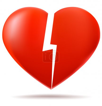 Two parts of broken heart