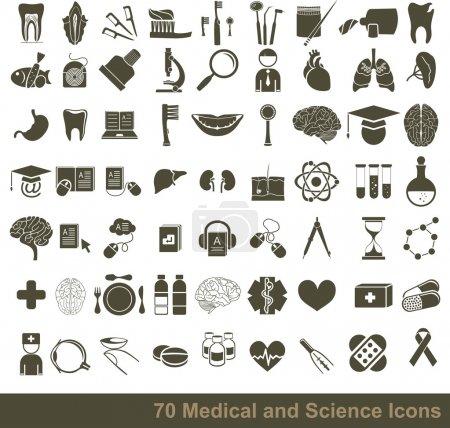Photo pour Ensemble d'icônes médicales - image libre de droit