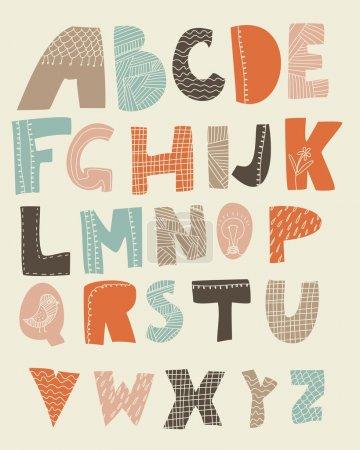 Ilustración de Alfabeto inglés - Imagen libre de derechos