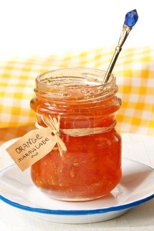 Homemade orange marmalade in a jar....