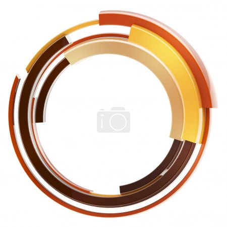 Abstract techno circular frame border isolated
