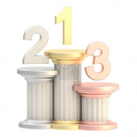 Winner pedestal: winner places as columns