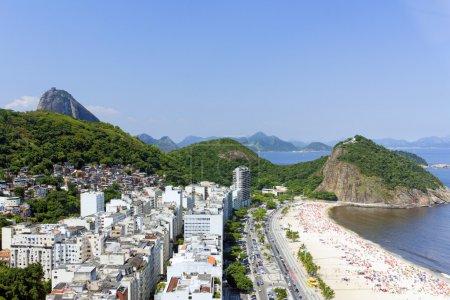 View of Copacabana beach in Rio de Janeiro...