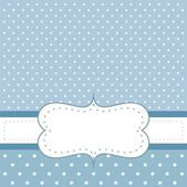 Sweet blue polka dots vector birthday party card or wedding invitation