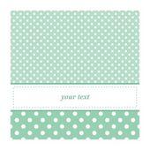 Sweet mint green polka dots card invitation - birthday baby shower