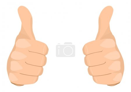 Illustration for Stock vector of two thumbs up - Royalty Free Image