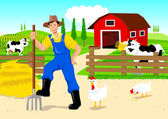 Farmer in Cartoon