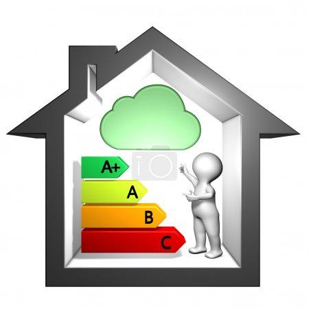 Foto de Información de etiquetado índice de emisiones de sustancias peligrosas en el aire interior - Imagen libre de derechos
