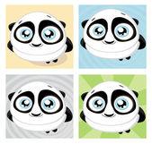 Cute big-eyed panda Vector illustration