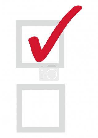 Illustration pour Case à cocher vectoriel - image libre de droit