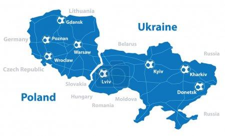 Euro 2012 map