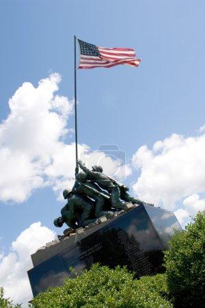 Photo pour Détail de la statue de Mémorial d'iwo jima située à new britain, connecticut. - image libre de droit
