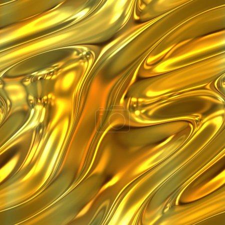 Photo pour Une texture liquide or fondue en toute transparence de carreaux. - image libre de droit