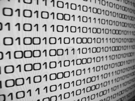 Photo pour Zéros et ceux - arrière-plan de code binaire . - image libre de droit