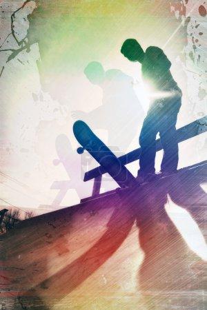 Grungy Skateboarder