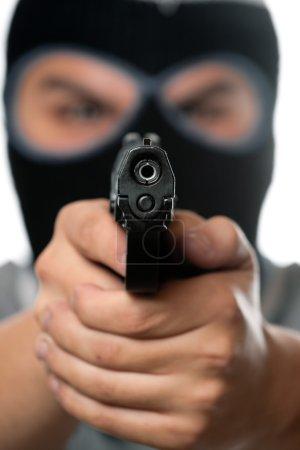 Masked Man With a Gun