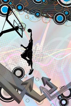 Basketball Grafitti Arrows Layout