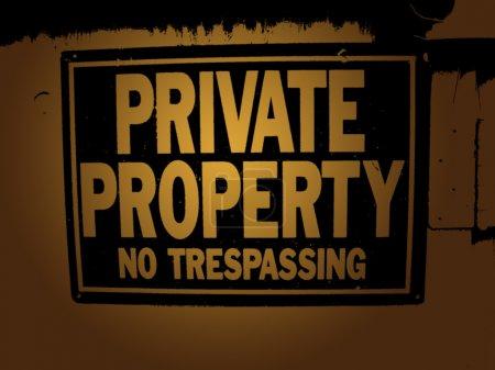 Photo pour Un signe pour savoir ce qui se passe - sortez de chez moi maintenant s'il vous plaît . - image libre de droit