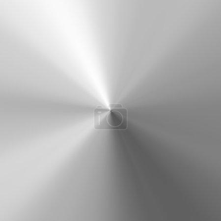 Photo pour Une texture en aluminium brossé dans un motif circulaire. Cette image carrelage parfaitement comme un motif dans n'importe quelle direction . - image libre de droit