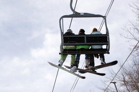 Snowboarding Ski Lift