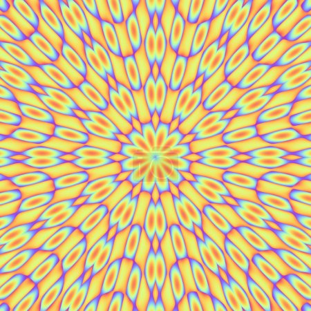 A funky rainbow colored illustration that tiles se...