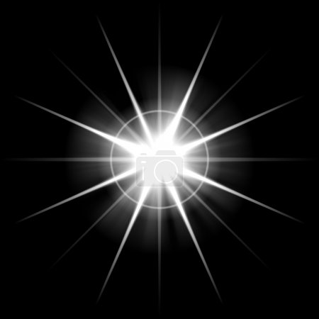 Photo for An abstract lens flare. Very bright burst - works great as a background. - Royalty Free Image