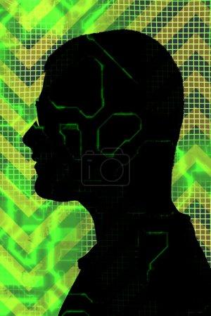 Digital Man Silhouette