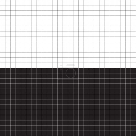 Illustration for A black and white grid layout - plenty of copyspace. This vector is fully editable. - Royalty Free Image