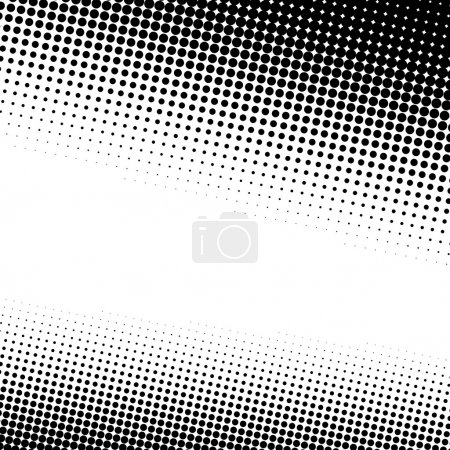 Illustration for A black and white halftone background with plenty of copy space in vector format. - Royalty Free Image