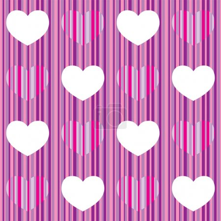 Seamless pattern with heart, may be used like wrap...