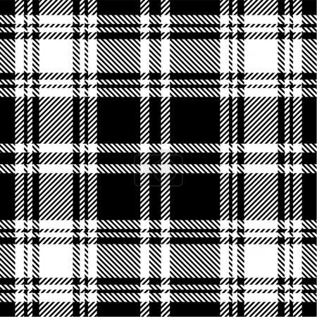 Illustration pour Modèle de plaid noir et blanc - image libre de droit