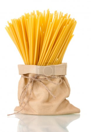 Photo for Pasta in a bag isolated on white - Royalty Free Image