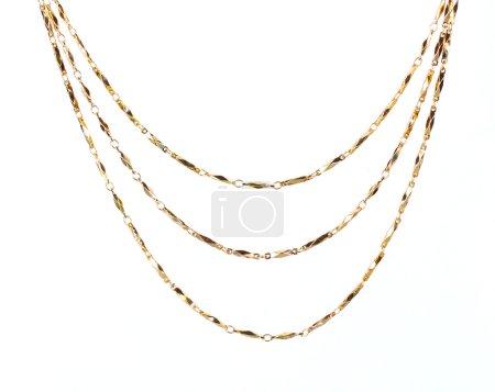 Photo pour Belle chaîne en or isolée sur blanc - image libre de droit