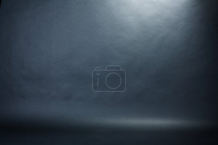 Photo for Spotlight studio interior, black background - Royalty Free Image