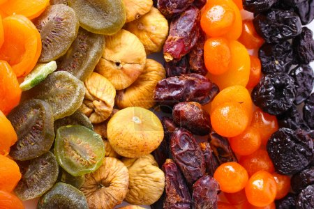 Dried fruits close up