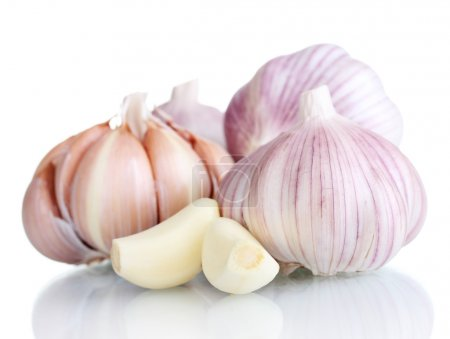 Photo for Fresh garlic isolated on white - Royalty Free Image