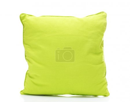 Photo for Green bright pillow isolated on white - Royalty Free Image