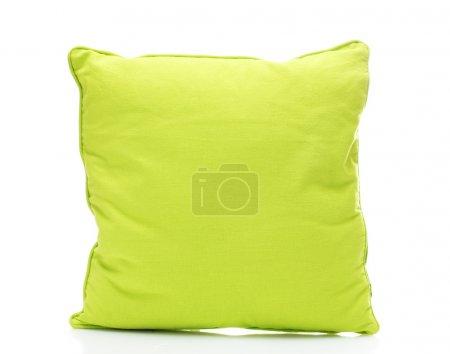 Photo pour Oreiller de lumineux vert isolé sur blanc - image libre de droit