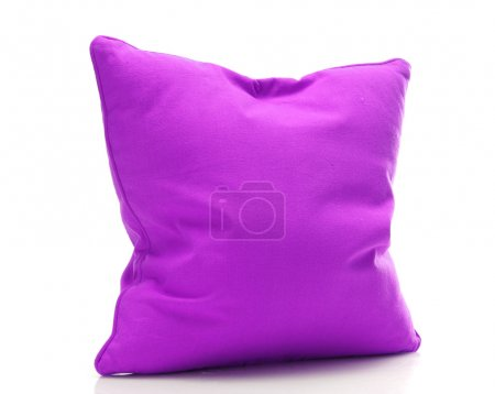Photo for Bright purple pillow isolated on white - Royalty Free Image
