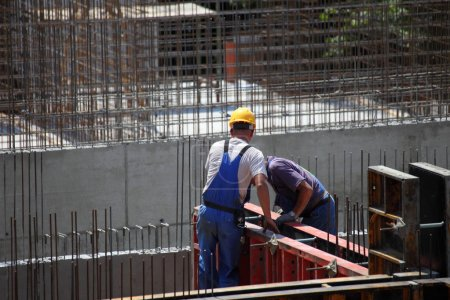 Worker at site working